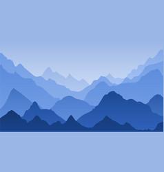 blue mountain landscape mountains misty vector image
