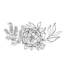 bouquet element of design vector image