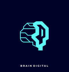 brain imagination template vector image