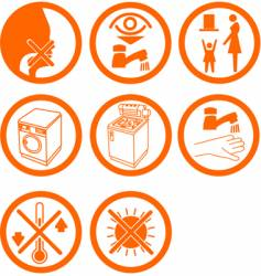Brand new home rooms icons vector