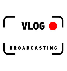 Broadcasting logo flat style vector