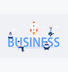 business design concept vector image