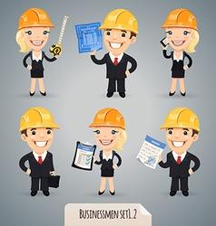 Businessmen in helmet set1 2 vector
