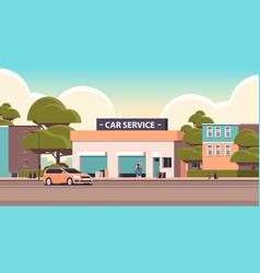 Car repair service concept mechanic in uniform vector
