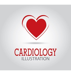 Cardiology design over gray background vector