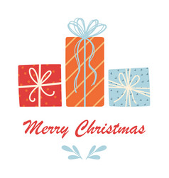 Christmas gifts on white background vector