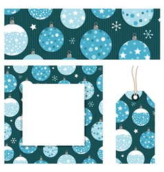 christmas stationery vector image