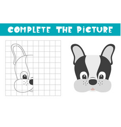 Complete picture a dog copy picture vector