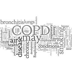 Copd respiratory ailment explained vector