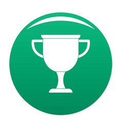 cup award icon green vector image