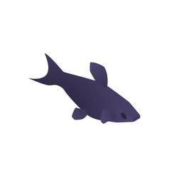 Dark aquarium fish composition vector
