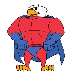 Eagle superhero posing vector