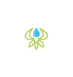 Eco leaf lotus flower logo vector