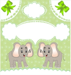 Elephant Background vector image