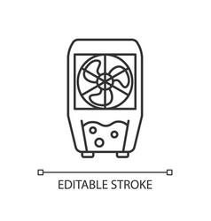 Evaporative cooler linear icon vector