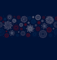 fireworks design on blue background vector image