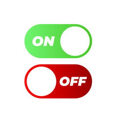 flat icon on and off toggle switch button format vector image