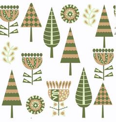 floral seamless pattern in swatch menu cute vector image