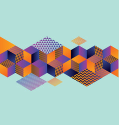 Geometric hexagon bright motif for header vector