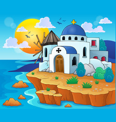Greek theme image 6 vector