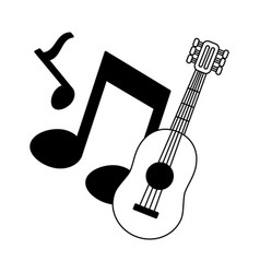 guitar notes music vector image
