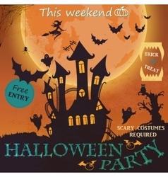 Happy Halloween Poster vector image