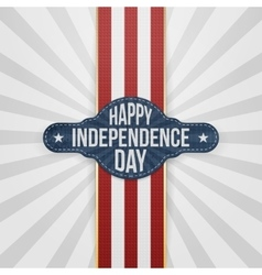 Happy Independence Day Badge with Ribbon vector image