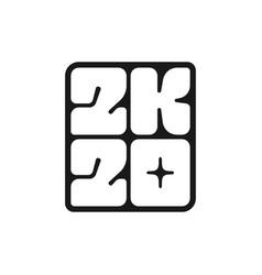 happy new year 2020 icon vector image