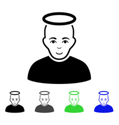 holy man flat icon vector image