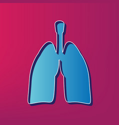 human anatomy lungs sign blue 3d printed vector image
