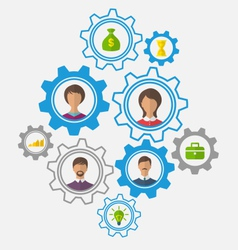 Idea teamwork and success business people vector
