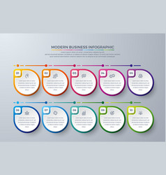 infographic design element with 10 steps vector image