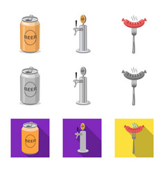 Isolated object of pub and bar sign set of pub vector