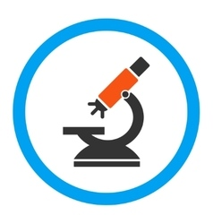 Labs Microscope Rounded Icon vector image