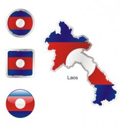 laos vector image