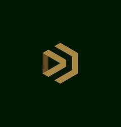 letter d initial symbol logo design vector image