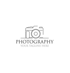 Minimalist photography logo designs vector
