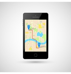 Navigation in Mobile Phone vector