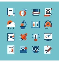 Online education color icon set vector