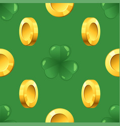 pattern with golden coins vector image