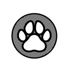 pawprint emblem vector image