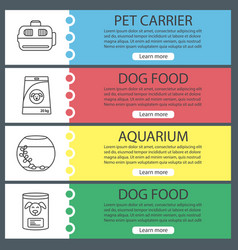 Pets supplies web banner templates set vector