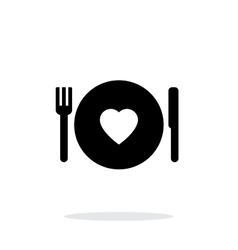 Romantic dinner icon on white background vector image