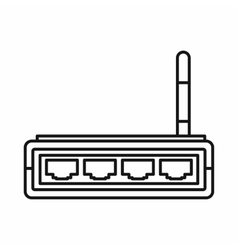 Router icon outline style vector