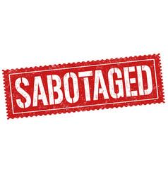Sabotage sign or stamp vector