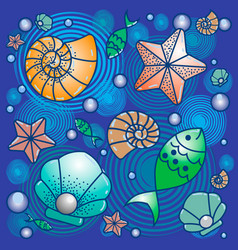 sea fish wild life summer vector image