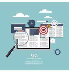 SEO Search Engine Optimazation vector image