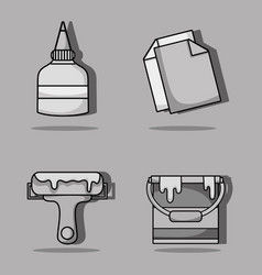 set art and craft creative objects vector image