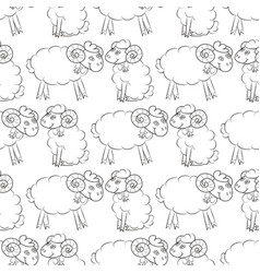 sheep flying in the sky with clouds vector image