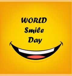 Smile world day vect ill vector